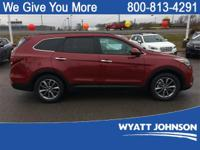 Red 2018 Hyundai Santa Fe SE FWD 6-Speed Automatic with
