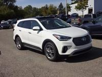 White 2018 Hyundai Santa Fe Limited Ultimate AWD