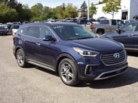 Blue 2018 Hyundai Santa Fe Limited Ultimate AWD 6-Speed