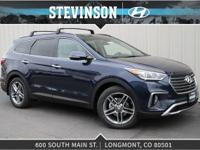 Blue 2018 Hyundai Santa Fe 6-Speed Automatic with