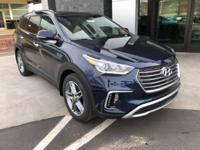 Blue 2018 Hyundai Santa Fe AWD 6-Speed Automatic with