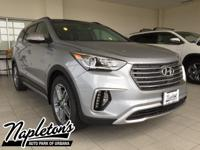 2018 Hyundai Santa Fe in Silver, AUX CONNECTION, USB,