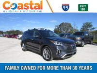 Blue 2018 Hyundai Santa Fe SE Ultimate FWD 6-Speed