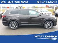 Black 2018 Hyundai Santa Fe SE Ultimate FWD 6-Speed