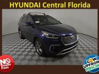 2018 Hyundai Santa Fe SE Ultimate Blue Beige Leather.