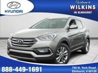 Turbocharged! AWD! This 2018 Santa Fe Sport is for