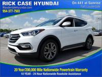 2018 Hyundai Santa Fe Sport 2.0L Turbo  in White Pearl