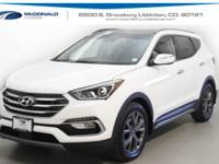White 2018 Hyundai Santa Fe Sport 2.0L Turbo Ultimate