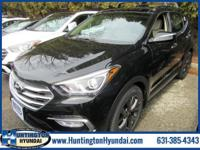 Black 2018 Hyundai Santa Fe Sport 2.0L Turbo Ultimate
