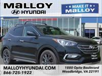 Recent Arrival!  Twilight Black 2018 Hyundai Santa Fe