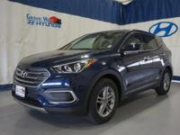Blue 2018 Hyundai Santa Fe Sport 2.4 Base FWD 6-Speed