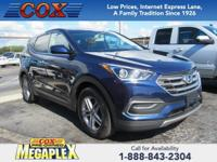 This 2018 Hyundai Santa Fe Sport 2.4 Base in Nightfall