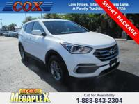This 2018 Hyundai Santa Fe Sport 2.4 Base in Pearl