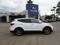Pearl White exterior and Gray interior, 2.4L trim. CD