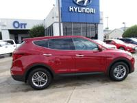 Serrano Red exterior and Beige interior, 2.4L trim. CD