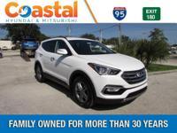 White 2018 Hyundai Santa Fe Sport 2.4 Base FWD 6-Speed