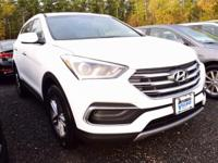 2018 Hyundai Santa Fe Sport 2.4 Base  in Pearl White.