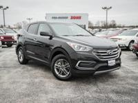 Certified. Twilight Black 2018 Hyundai Santa Fe Sport
