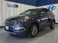 Blue 2018 Hyundai Santa Fe Sport 2.4 Base AWD 6-Speed