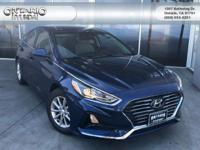 Blue 2018 Hyundai Sonata ECO FWD 7-Speed Automatic 1.6L
