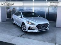 Silver 2018 Hyundai Sonata ECO FWD 7-Speed Automatic