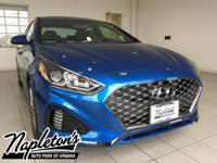 2018 Hyundai Sonata in Electric Blue, AUX CONNECTION,