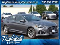 2018 Hyundai Sonata 2.0T Machine Gray Black Leather.