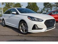 2018 White Hyundai Sonata Limited 6-Speed Automatic