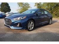 2018 Blue Hyundai Sonata SEL 6-Speed Automatic with