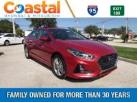 Red 2018 Hyundai Sonata Limited FWD 6-Speed Automatic