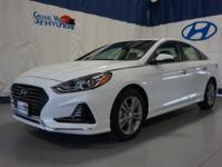 White 2018 Hyundai Sonata Sport FWD 6-Speed Automatic