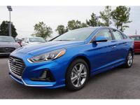 2018 Electric Blue Hyundai Sonata SEL 6-Speed Automatic