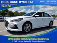 2018 Hyundai Sonata Limited  in White Pearl and 20 year