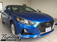 2018 Hyundai Sonata in Blue, AUX CONNECTION, USB,
