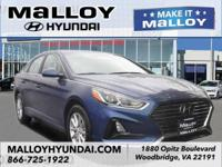Recent Arrival! Gray Cloth.  Blue 2018 Hyundai Sonata