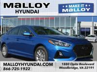 Recent Arrival! Gray Cloth.  Electric Blue 2018 Hyundai
