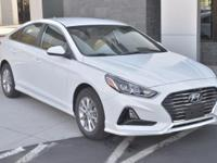 White 2018 Hyundai Sonata SE FWD 6-Speed Automatic with
