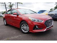 2018 Red Hyundai Sonata SE 6-Speed Automatic with