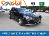 Black 2018 Hyundai Sonata SE FWD 6-Speed Automatic with