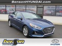 Blue 2018 Hyundai Sonata SEL FWD 6-Speed Automatic with