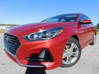 Scarlet Red 2018 Hyundai Sonata FWD 6-Speed Automatic