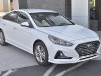 White 2018 Hyundai Sonata SEL FWD 6-Speed Automatic