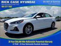 2018 Hyundai Sonata SEL  in White Pearl and 20 year or