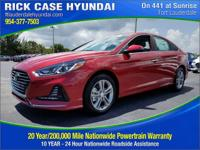 2018 Hyundai Sonata SEL  in Scarlet Red and 20 year or