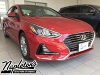 2018 Hyundai Sonata in Red, AUX CONNECTION, USB,