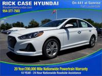 2018 Hyundai Sonata SEL  in White Pearl and 20 year or
