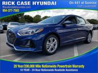 2018 Hyundai Sonata SEL  in Blue and 20 year or 200,000
