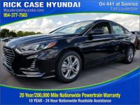 2018 Hyundai Sonata SEL  in Phantom Black and 20 year