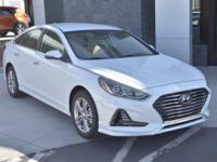 White 2018 Hyundai Sonata SEL FWD 6-Speed Automatic