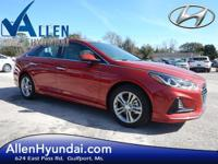 2018 Hyundai Sonata SEL Scarlet Red Gray Cloth. 35/25